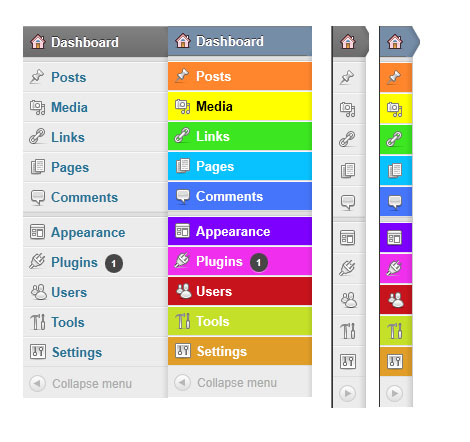 Admin-Colour change wordpress menu