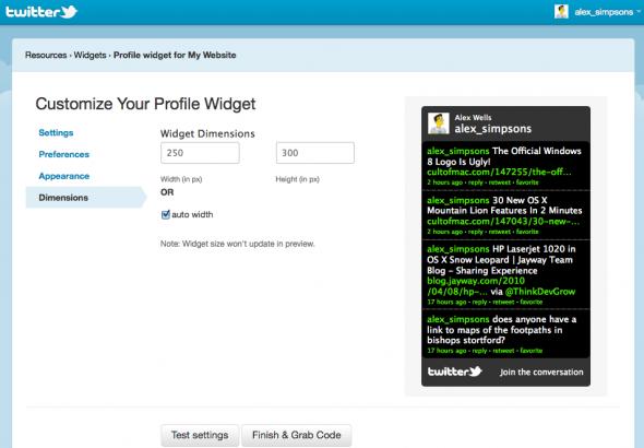 display tweets on your website